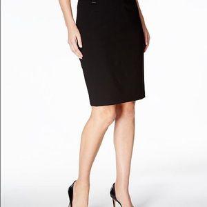 Calvin Klein black straight skirt. Size 8
